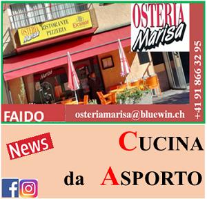 OSTERIA MARISA A FAIDO (Bar - Ristorante - Pizzeria) ¦ pizza e cucina da asporto