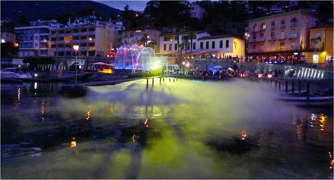Seven ad Ascona di notte luglio 2017