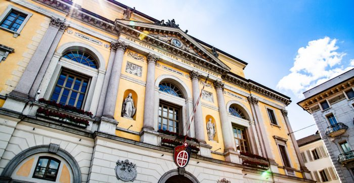 municipio di Lugano facciata