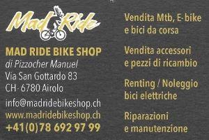 MAD RIDE BIKE AIROLO  negozio bici ¦ vendita ¦ noleggio ¦ manutenzione