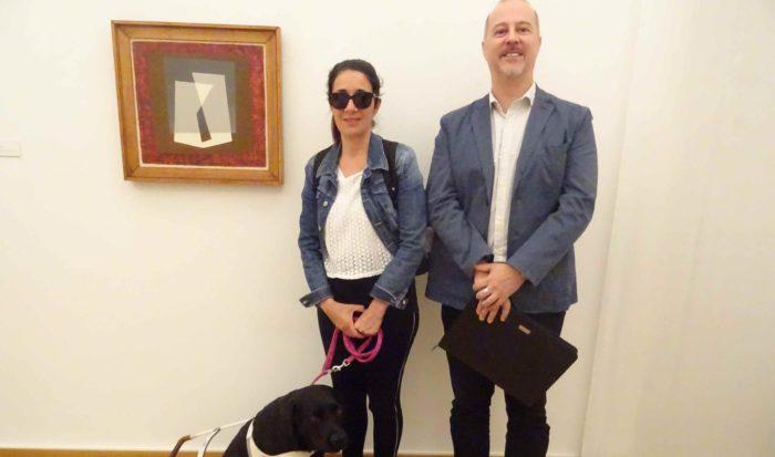La guida Barbara con il vice-presidente Unitas Ticino, sig. Bisi