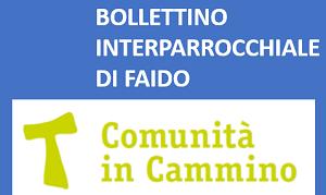 BOLLETTINO INTERPARROCCHIALE COMUNITÀ RELIGIOSA FAIDO E DINTORNI